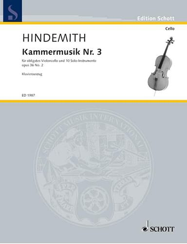 Paul Hindemith - Kammermusik Nr. 3 - Concerto op. 36 n ° 2 - Partition - di-arezzo.com