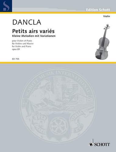 DANCLA - Kleine Melodien mit Variationen op. 89 - Partition - di-arezzo.com
