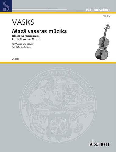 Kleine Sommermusik - Peteris Vasks - Partition - laflutedepan.com