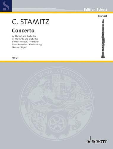 Carl Stamitz - Konzert B-Dur Darmst. Kzt Nr. 2 - Klarinette Klavier - Partition - di-arezzo.co.uk