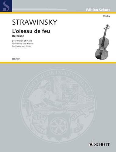 Igor Stravinsky - Lullaby extr. The Firebird - Violin - Partition - di-arezzo.com
