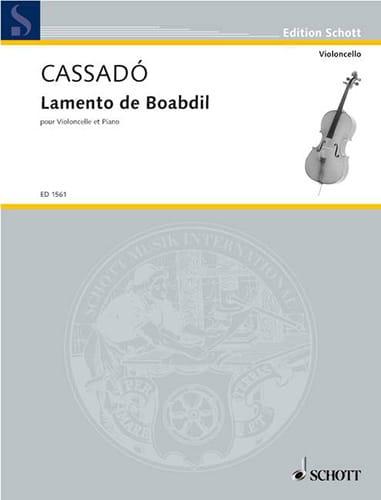Gaspar Cassado - Lamento de Boabdil - Partition - di-arezzo.de