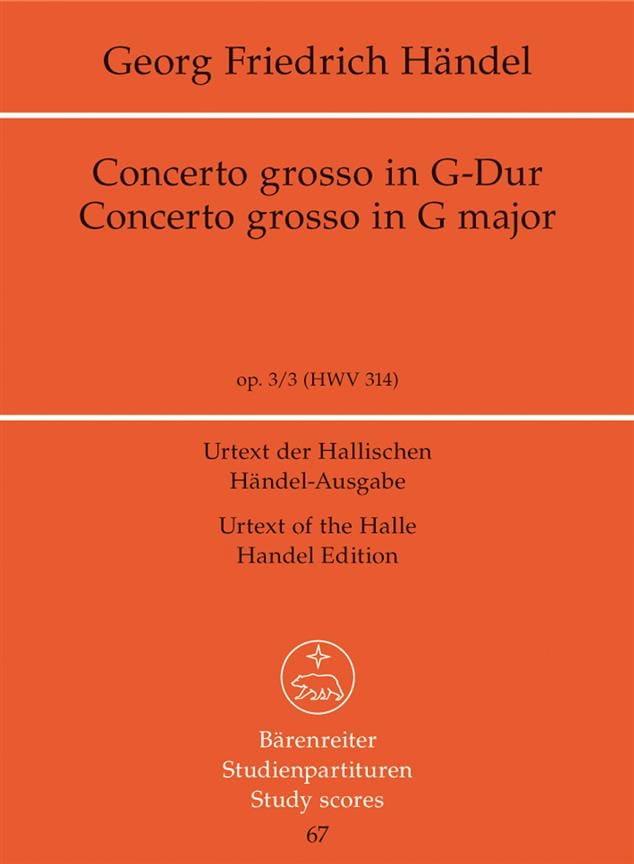 Concerto Grosso Sol majeur - HAENDEL - Partition - laflutedepan.com
