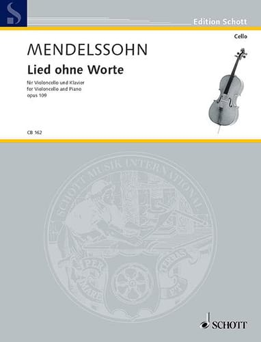 MENDELSSOHN - Lied ohne Worte op.109 - Partition - di-arezzo.co.uk