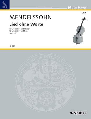 MENDELSSOHN - Lied ohne Worte op.109 - Partition - di-arezzo.com