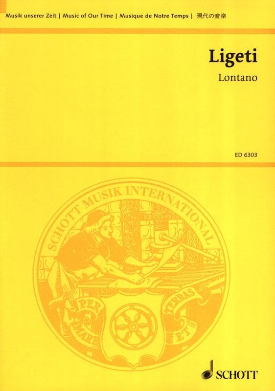 György Ligeti - Lontano - Partitur - Partition - di-arezzo.fr