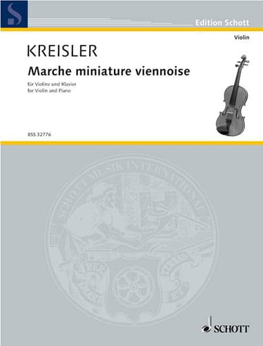 Fritz Kreisler - Marche miniature viennoise - Partition - di-arezzo.ch