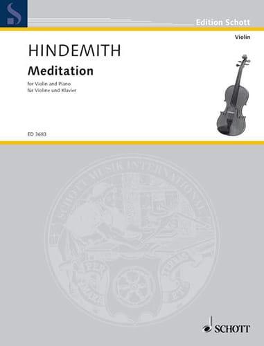 Meditation - Violon - HINDEMITH - Partition - laflutedepan.com