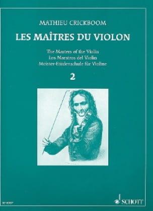 Mathieu Crickboom - Los maestros del violín - Volumen 2 - Partition - di-arezzo.es