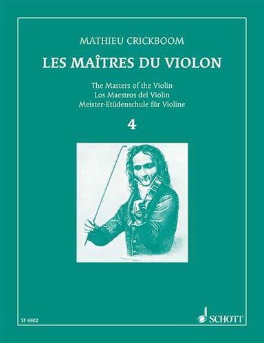 Mathieu Crickboom - Los Maestros del Violín - Volumen 4 - Partition - di-arezzo.es