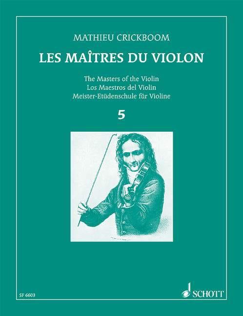 Mathieu Crickboom - Los Maestros del violín - Volumen 5 - Partition - di-arezzo.es