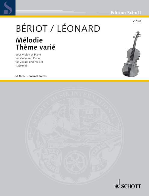 Bériot Charles A. (de) / Léonard Hubert - Melody / Varied Theme - Partition - di-arezzo.co.uk