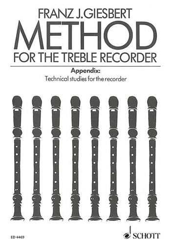 Franz J. Giesbert - Method For The Treble Recorder - Partition - di-arezzo.co.uk