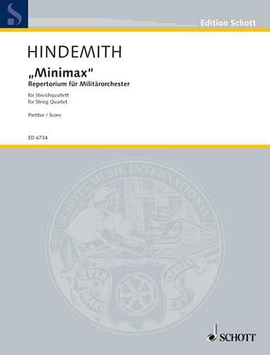 Minimax - Streichquartett - Partitur - HINDEMITH - laflutedepan.com