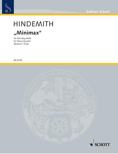 Minimax - Streichquartett - Stimmen - HINDEMITH - laflutedepan.com