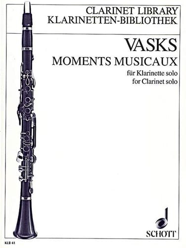 Moments musicaux - Klarinette solo - Peteris Vasks - laflutedepan.com