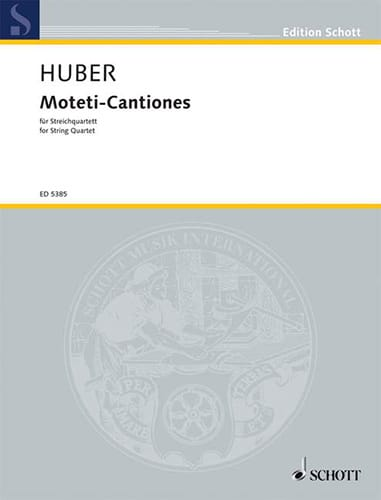 Moteti-Cantiones 1962/63 - Klaus Huber - Partition - laflutedepan.com