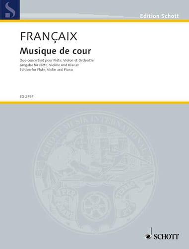 Musique de Cour - flûte, violon, piano - FRANÇAIX - laflutedepan.com