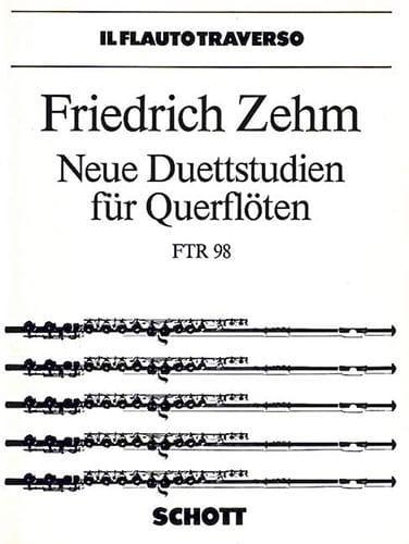 Neue Duettstudien für Querflöten - Friedrich Zehm - laflutedepan.com