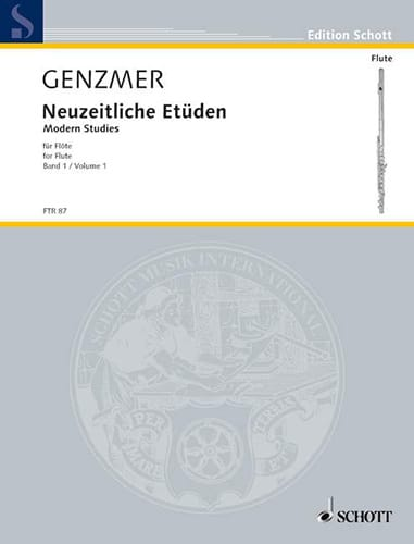 Neuzeitliche Etüden f. Flöte - Bd. 1 - laflutedepan.com