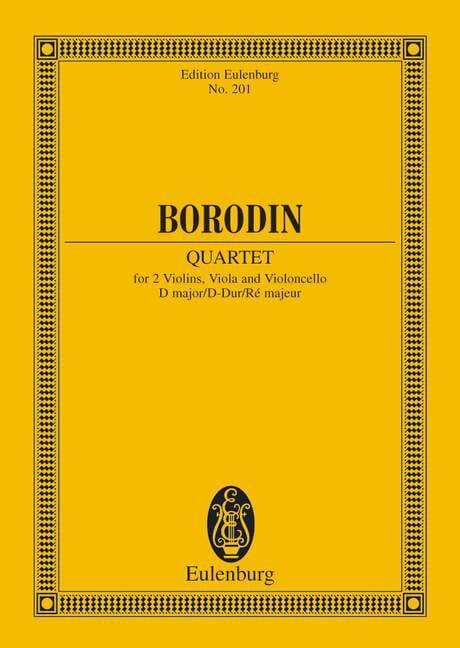 Streichquartett Nr. 2 D-Dur - Partitur - BORODINE - laflutedepan.com