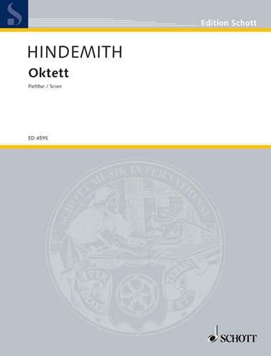 Octuor - HINDEMITH - Partition - Grand format - laflutedepan.com