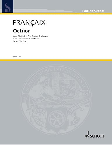 Octuor - Score - FRANÇAIX - Partition - laflutedepan.com