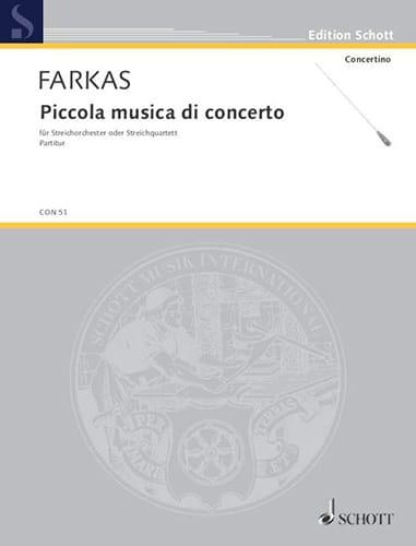 Piccola musica di concerto - Partitur - laflutedepan.com