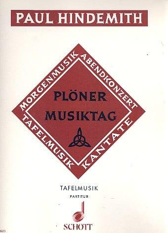 Plöner Musiktag - Tafelmusik - HINDEMITH - laflutedepan.com