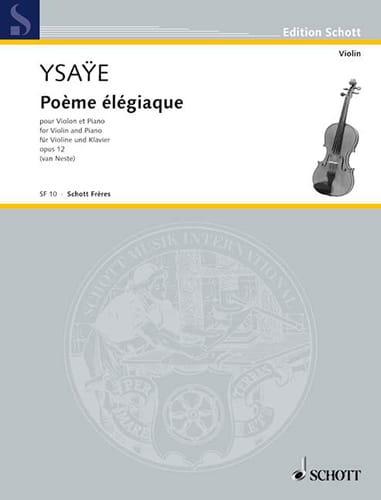 Poème élégiaque op. 12 - Eugène Ysaÿe - Partition - laflutedepan.com