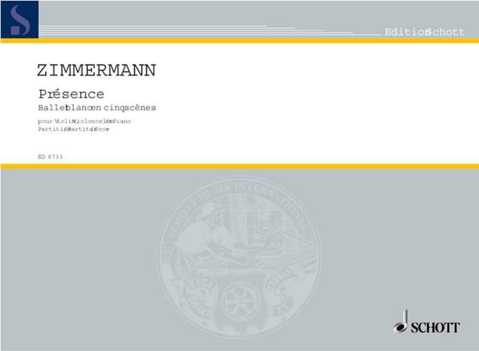 Présence -Partitur - Bernd Alois Zimmermann - laflutedepan.com
