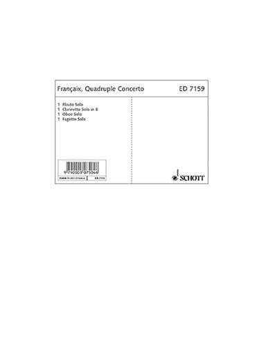 Quadruple concerto - 4 Solo-Stimmen - FRANÇAIX - laflutedepan.com