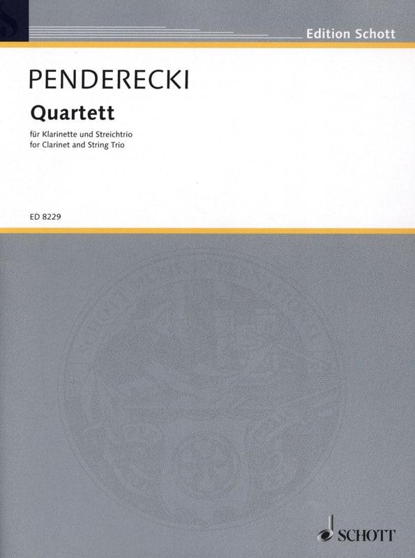 Quatuor 1993 - PENDERECKI - Partition - Quatuors - laflutedepan.com