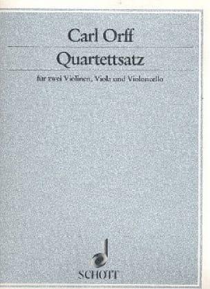Quartettsatz -Partitur + Stimmen - ORFF - laflutedepan.com