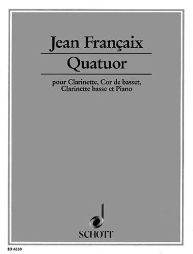 Quatuor 1994 -Clarinette, cor de basset, clar. basse et piano - laflutedepan.com