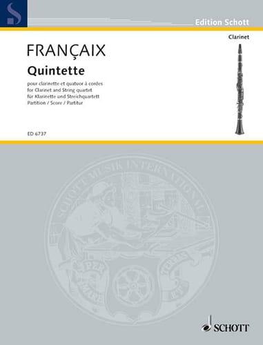 Quintette - clarinette, quatuor à cordes - Score - laflutedepan.com