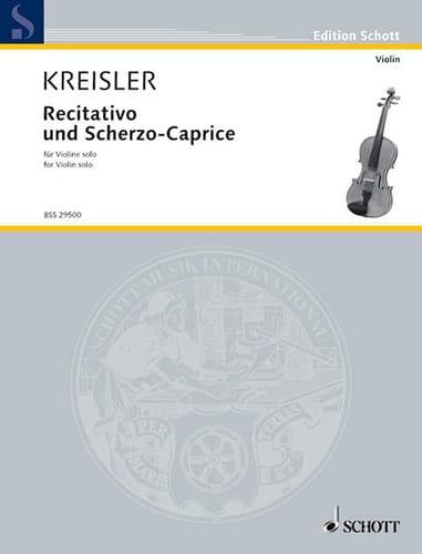 Recitativo und Scherzo-Caprice op. 6 - KREISLER - laflutedepan.com