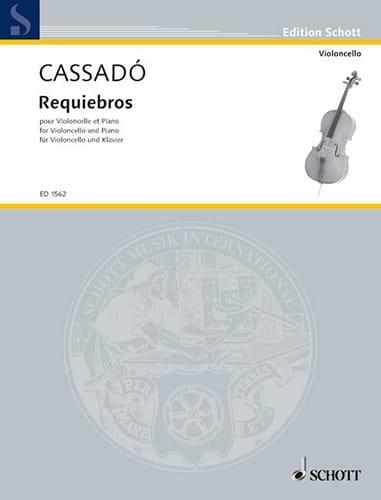 Gaspar Cassado - Requiebros - Partition - di-arezzo.de