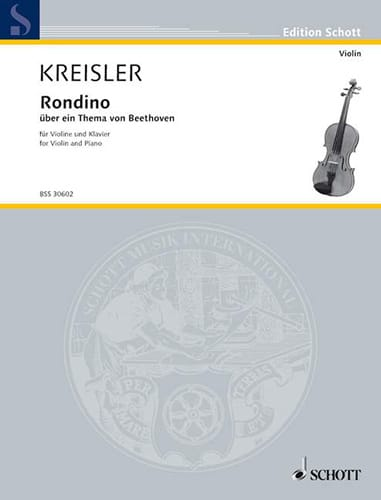 Fritz Kreisler - Rondino on a theme of Beethoven - Partition - di-arezzo.co.uk