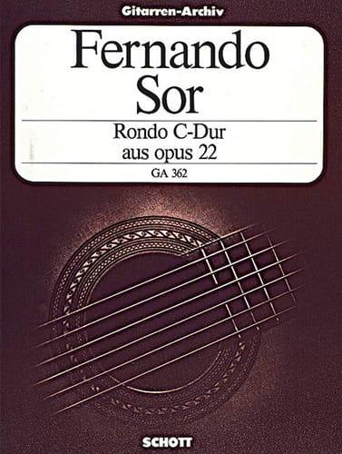 Rondo C-Dur aus op. 22 -Gitarre - SOR - Partition - laflutedepan.com