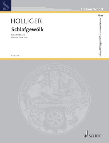 Schlafgewölk - Altflöte solo - Heinz Holliger - laflutedepan.com