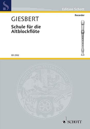 Schule für die Altblockflöte - Franz J. Giesbert - laflutedepan.com