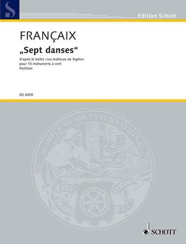 Sept danses - 10 vents - Score - FRANÇAIX - laflutedepan.com
