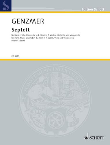 Septett - Conducteur - Harald Genzmer - Partition - laflutedepan.com