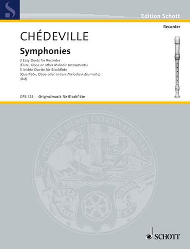 Symphonies - Philippe Esprit (L'Aîné) Chédeville - laflutedepan.com