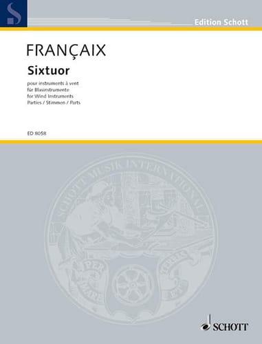 Sixtuor - Parties - FRANÇAIX - Partition - Sextuors - laflutedepan.com