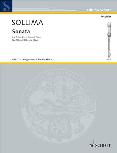 Sonata - Altblockflöte Klavier - Eliodoro Sollima - laflutedepan.com