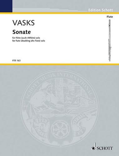 Sonate - Flöte Solo - Peteris Vasks - Partition - laflutedepan.com