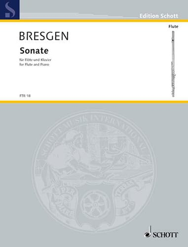 Sonate -Flöte Klavier - Cesar Bresgen - Partition - laflutedepan.com