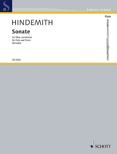 Paul Hindemith - Sonata for Flute 1936 - Partition - di-arezzo.co.uk